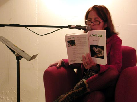 "Chris Kraus reading from ""I Love Dick"""
