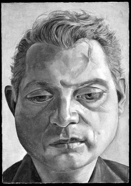 From the Gallery of Lost Art, Lucian Freud's painting (stolen) of Francis Bacon.