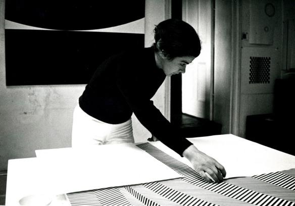 Bridget Riley in her Studio, 1960's