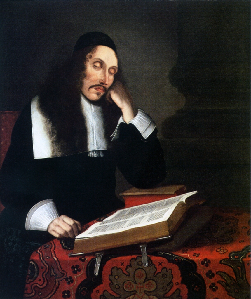 Portrait in oil of the dutch philosopher Baruch Spinoza by the painter Franz Wulfhagen (1624–1670) from Bremen, Germany. Created in 1664, probably commissioned by the scholar Johann Eberhard Schweling, the painting today is in private hands in France.