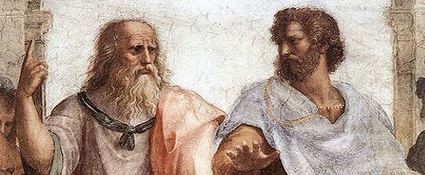 Plato and Aristotle, a fragment from Raphael's The School of Athens