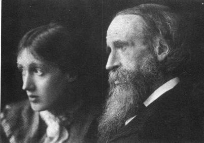 Virginia Woolf with father, Sir. Leslie Stephen