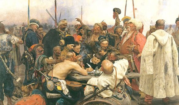 Reply of the Zaporozhian Cossacks to Sultan Mehmed IV of the Ottoman Empire - Ilya Repin (1880-1891)