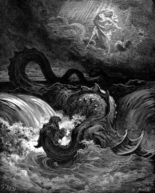 Destruction of Leviathan (1865): Gustave Doré