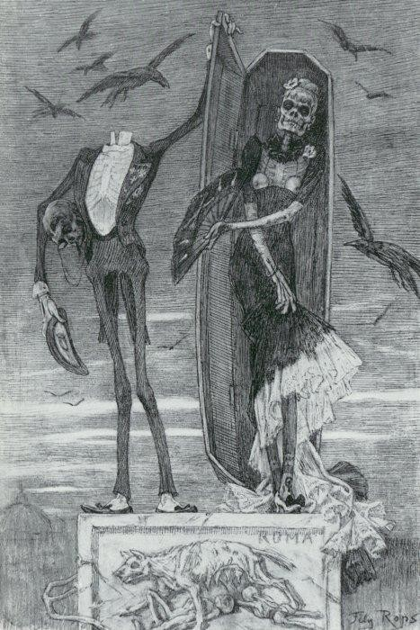 The Supreme Vice (1883) by Félicien Rops