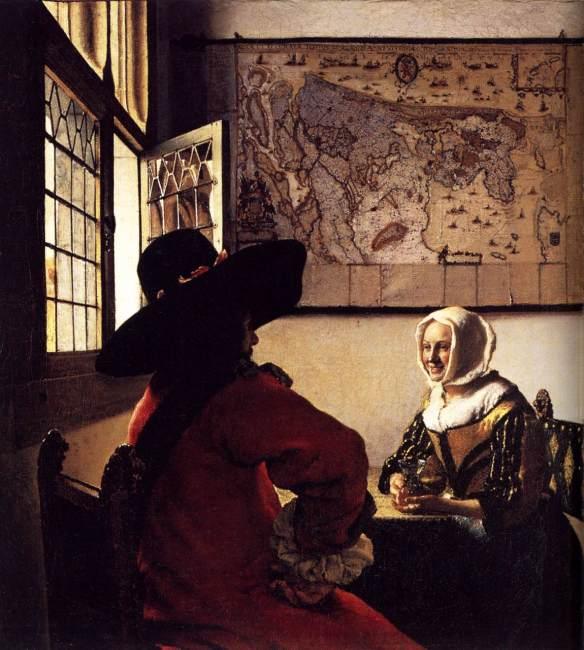 Officer and Laughing Girl (1657) - Johannes Vermeer