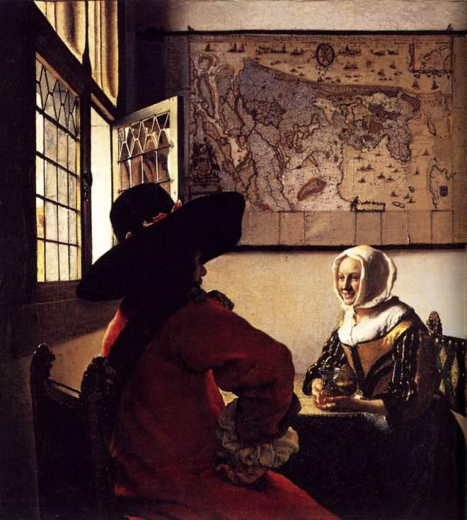 Officer and Laughing Girl (1657) - Johannes Vermeer