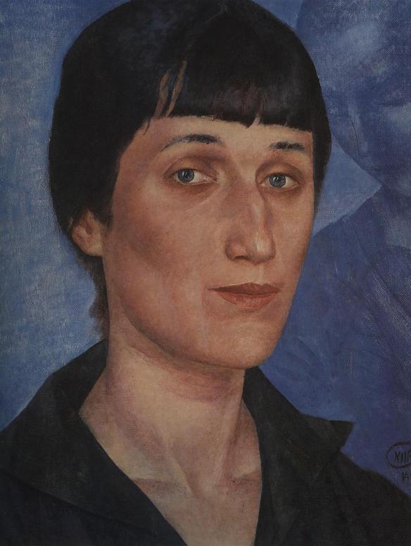 Portrait of Anna Akhmatova (1922) - Kuzma Petrov-Vodkin