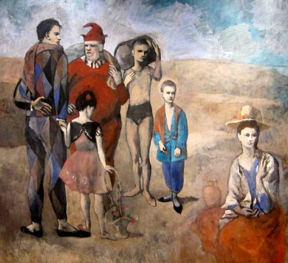Family of Saltimbanques (1905) - Pablo Picasso)