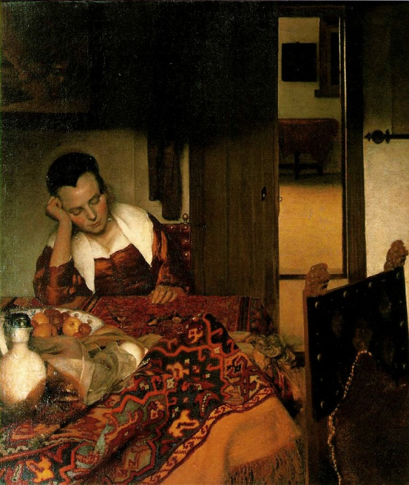 Girl Sleeping (circa 1656-16570 -  Johannes Vermeer