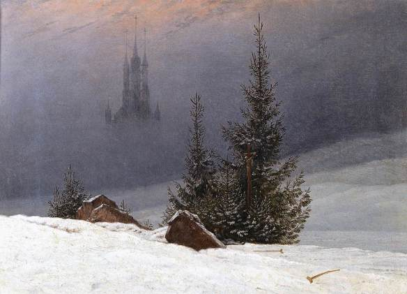 Winter Landscape with Church (1789) - Caspar David Friedrich