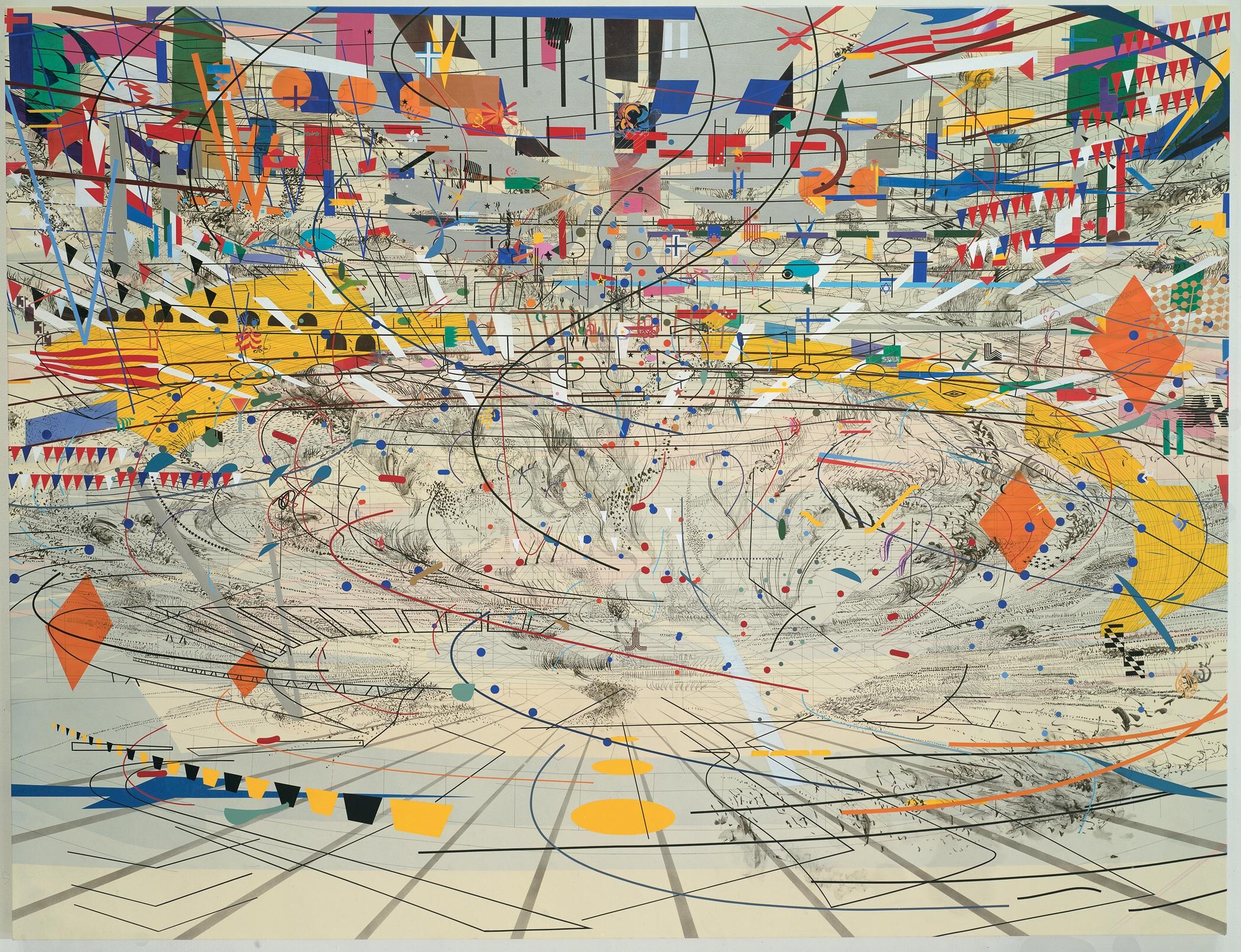 A personal analysis of the artwork stadia ii by julie mehretu