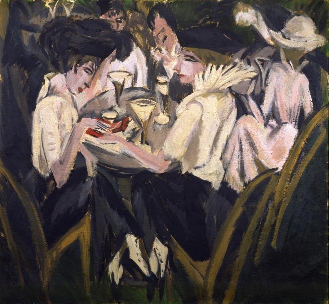 Im Cafégarten (1914) - Ernst Ludwig Kirchner
