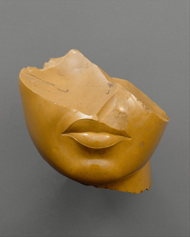 Fragment of a Queen's Face,  New Kingdom Period, Amarna Period, Dynasty 18, reign of Akhenaten, c. 1353-1336 BC, Middle Egypt