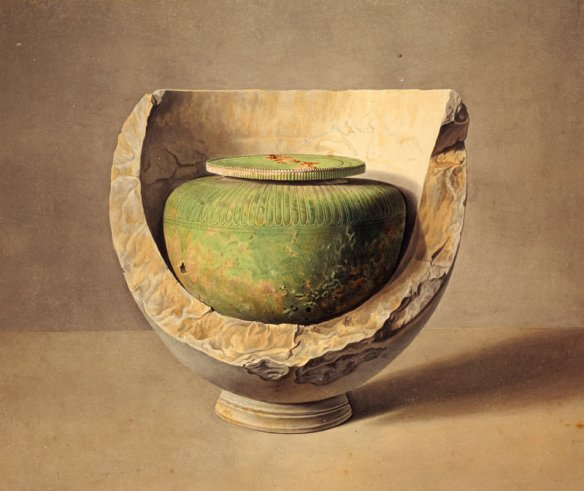 A Bronze Vase within a Marble Urn (1804) - Giovanni Battista Lusieri