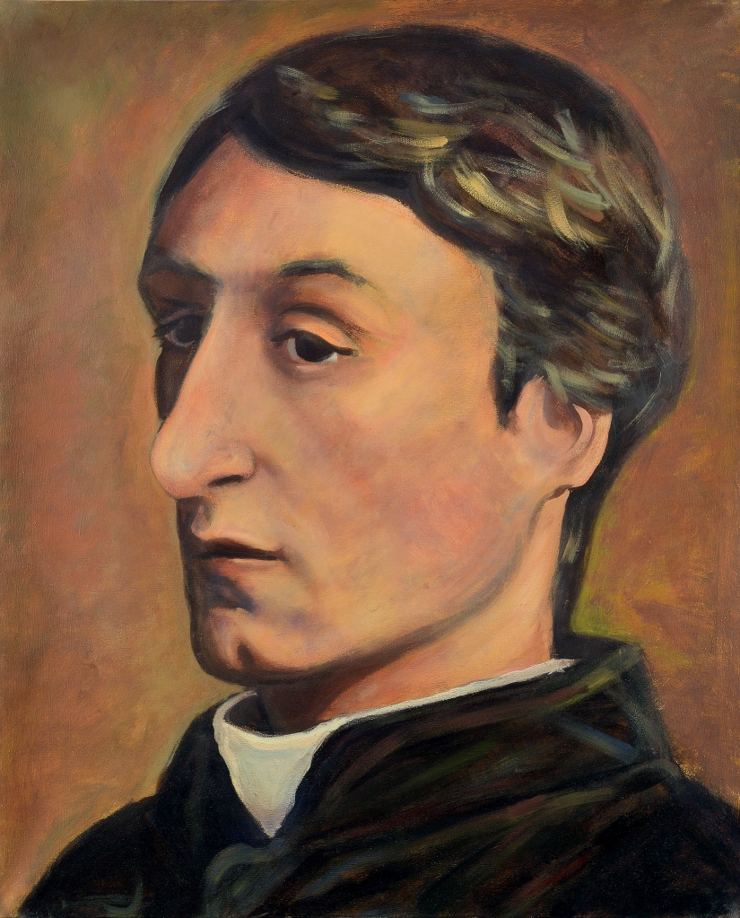 Gerard Manley Hopkins (1844-1889) by Ellen Riley and Cédric Charleuf (2014)