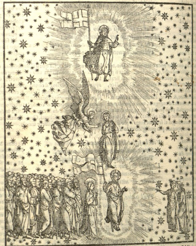 Woodcut from A 1564 edition of La Divina Comedia from Arévalo, Spain